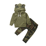 Stylish Warm Hoodie with Camouflage Pants