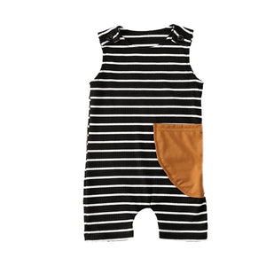Trendy Casual Striped Romper