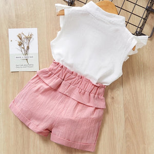 2 Pieces Casual Summer Top + Skirt
