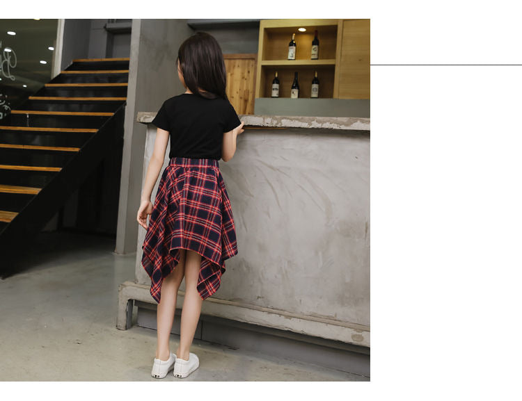 Classic Check Skirt with Fancy Top