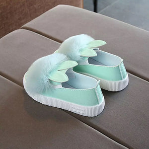Bunny Style Soft Fur Ball Shoes