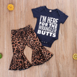 Stylish 2 Piece Rompers and Leopard Flare Pants