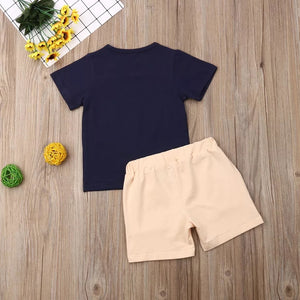 2 Pcs Soft Cotton Summer Outfit for Kids