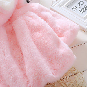 Warm Fluffy Hooded Poncho