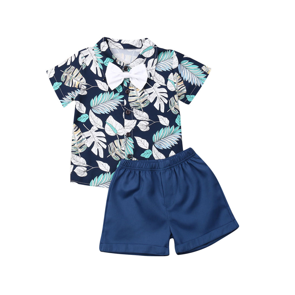 Summer Floral 2 Piece Outfit for Baby Boys
