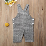 One Pocket Plaid Jumpsuit for Kids