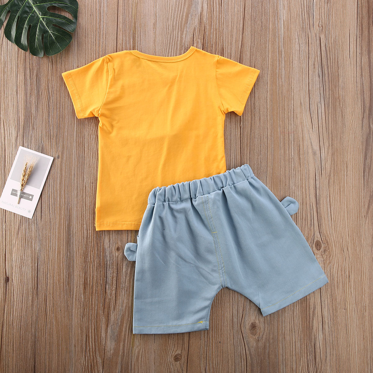 2 Pieces Happy Face Shirt + Shorts