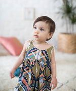Sleeveless Bohemia Romper Outfit for Girls