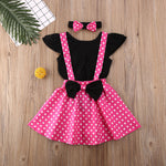 3 Pieces Classy Romper with Suspenders + Headband