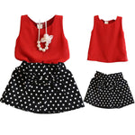 Sleeveless Elegant Top and Skirt for Summers