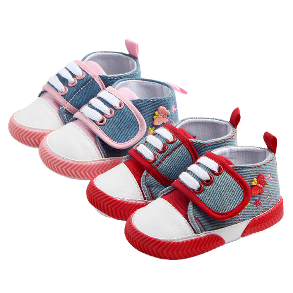 Colorful Embroidered Butterfly Shoes for Girls
