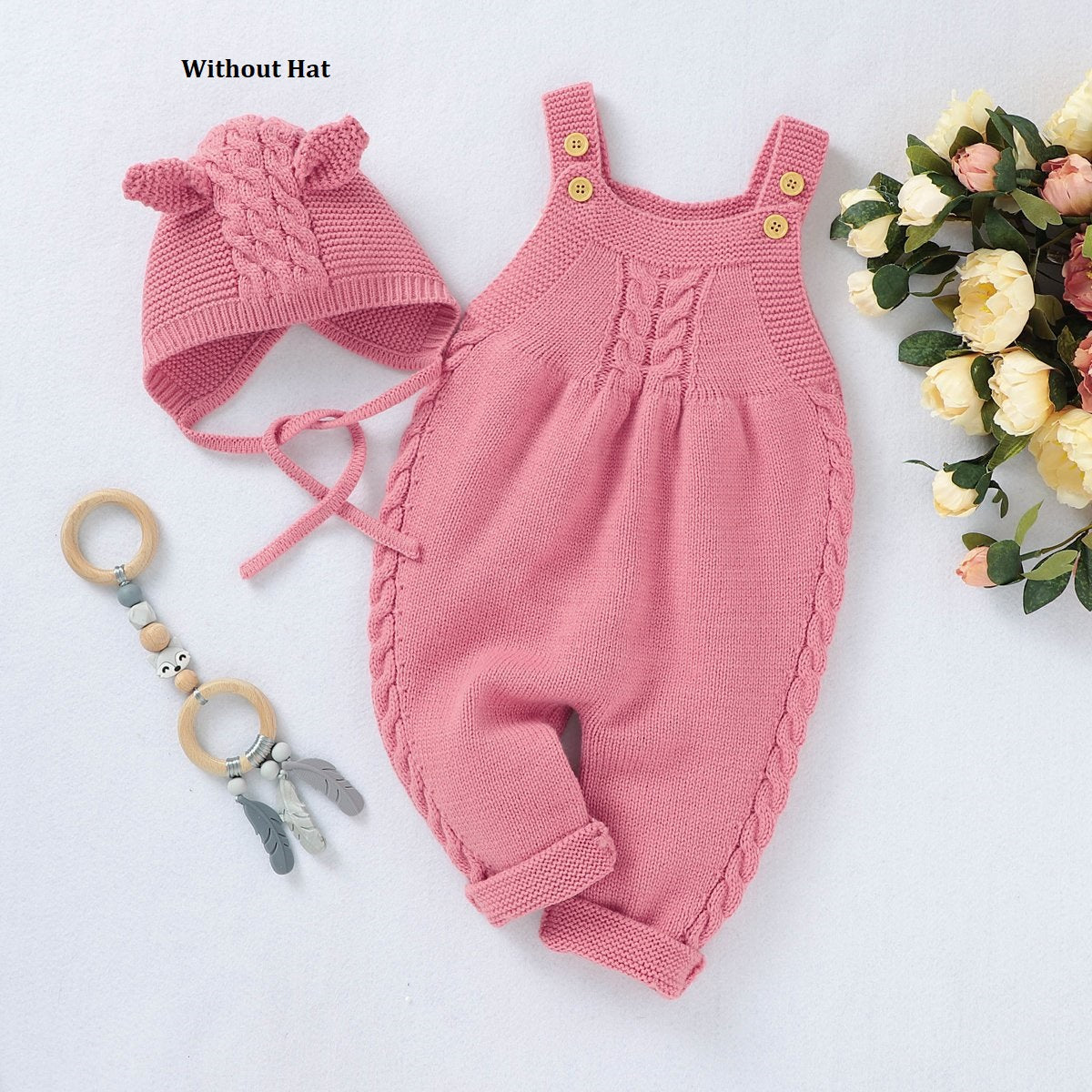 Warm Knitted Jumpsuit for Winters without Hat