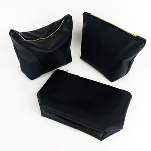 Faux Leather Clutch, Black
