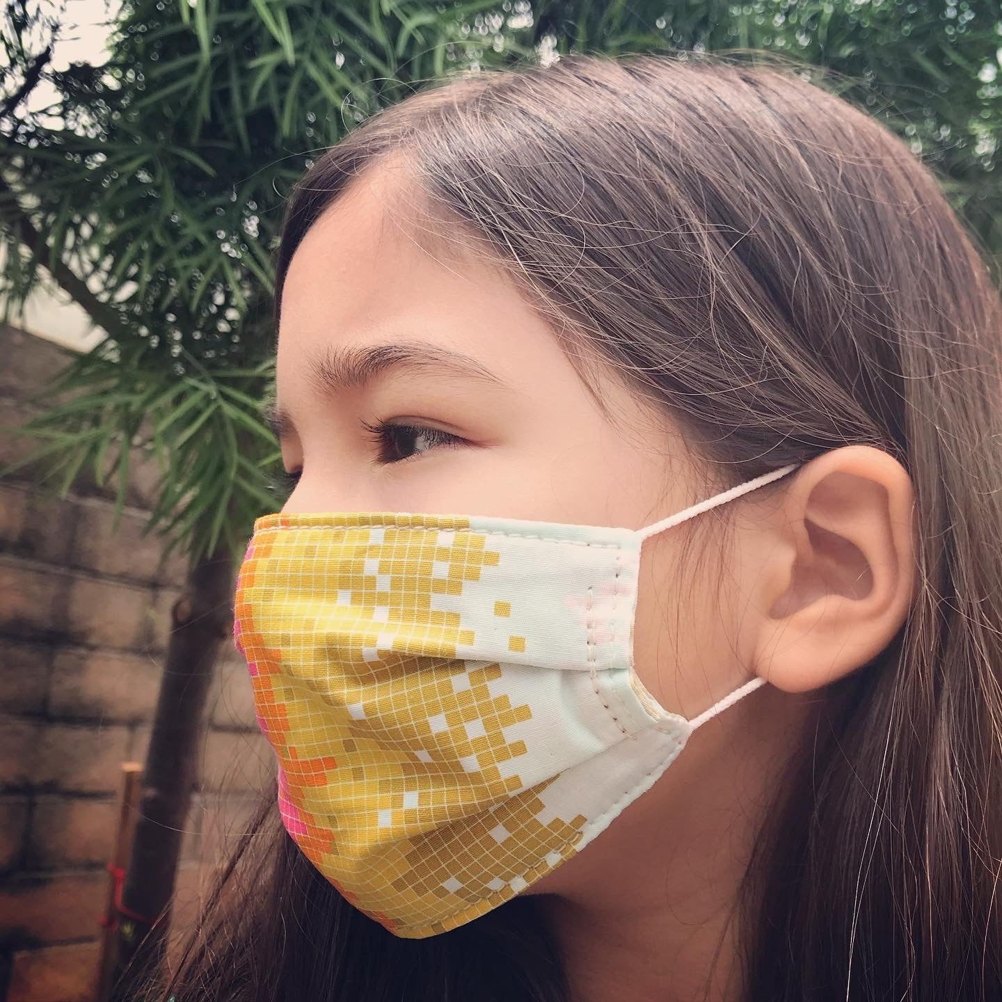 Cotton Face Mask, Digital Rainbow