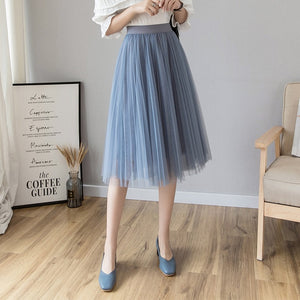 Womens Medi Tulle Skirt