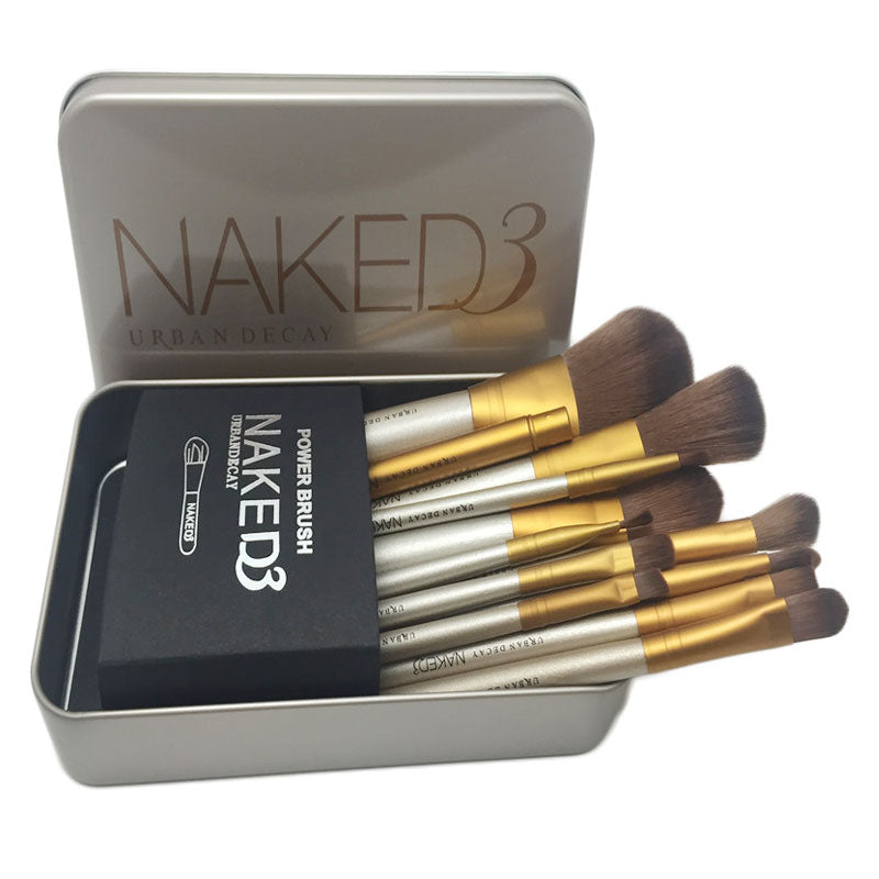 12pcs/lot NAKED 3 Makeup Brush Set