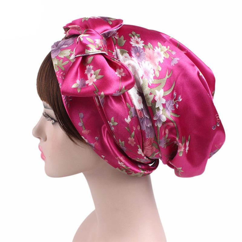 Printed Bow Sleeping Cap