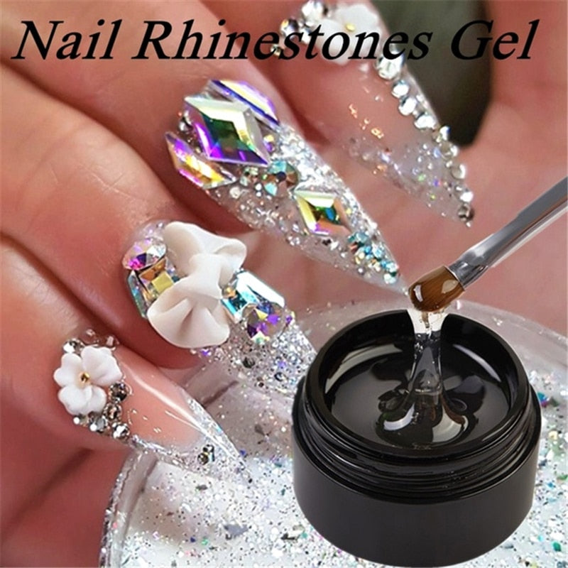 Nail Art Rhinestone Gel Glue Super Sticky Adhesive