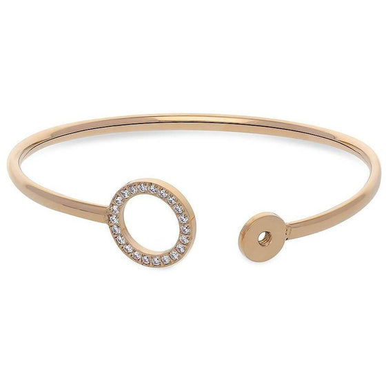 Qudo Cassine Gold Crystal Bangle