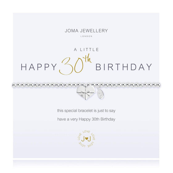 Joma Happy 30th Birthday Bracelet