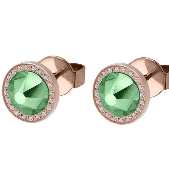 Qudo Canino Deluxe 10.5mm Rose Gold Stud Earrings  - Erinite