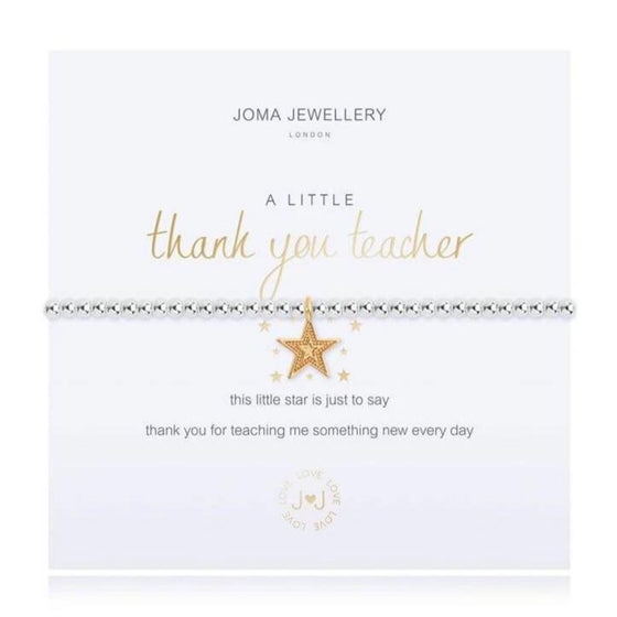 Joma Thank You Teacher Bracelet