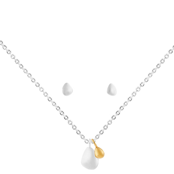 Joma Pebble Earrings/Necklace Set 3806