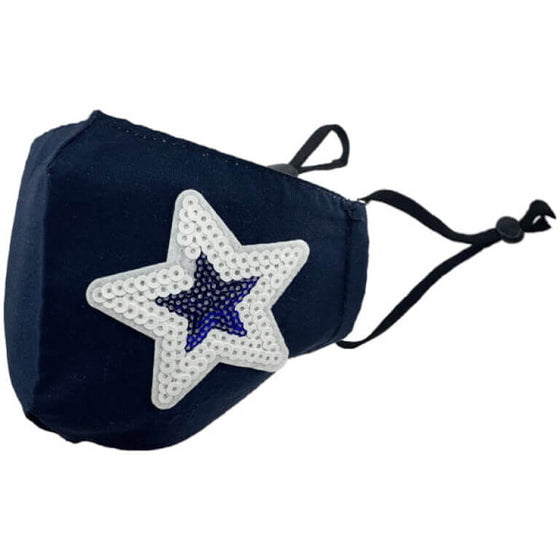 navy star face mask adults