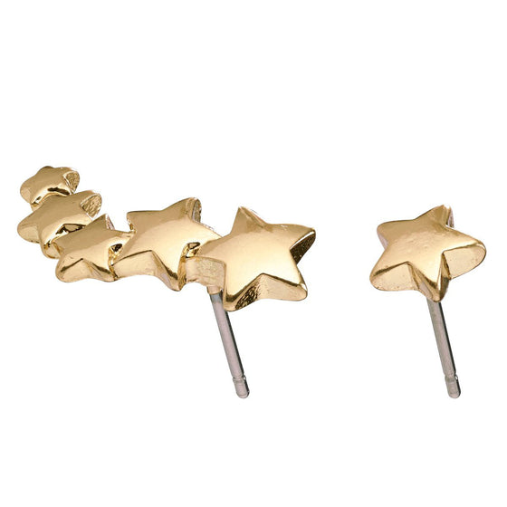 Pilgrim Ava Gold Star Stud Earrings