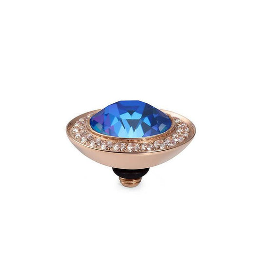 Qudo Tondo Deluxe 13mm Rose Gold Topper - Royal Blue Delite