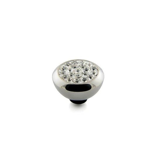 Qudo Galant 10mm Silver Topper - Crystal