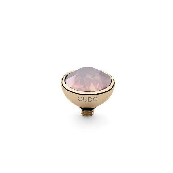 Qudo Bottone 10mm Gold Topper - Rose Water Opal