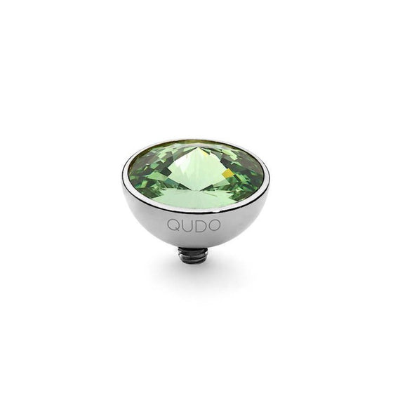 Qudo Bottone 11.5mm Silver Topper - Peridot