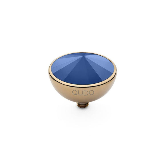 Qudo Bottone 13mm Gold Topper - Royal Blue