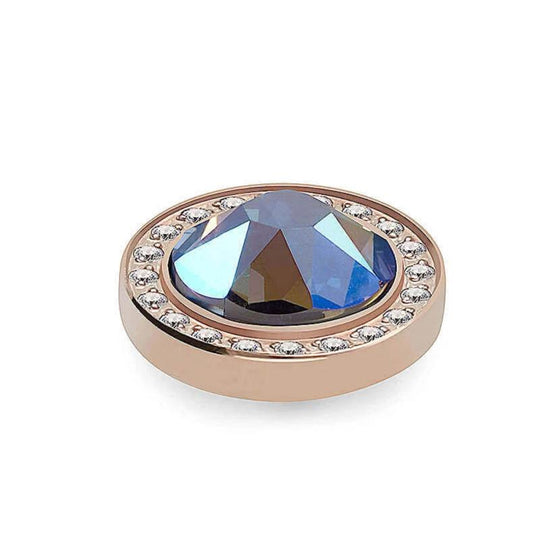Qudo Canino Deluxe 10.5mm Rose Gold Topper - Light Sapphire