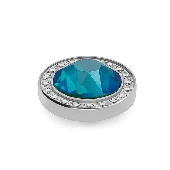 Qudo Canino Deluxe 10.5mm Silver Topper - Blue Zircon Shimmer
