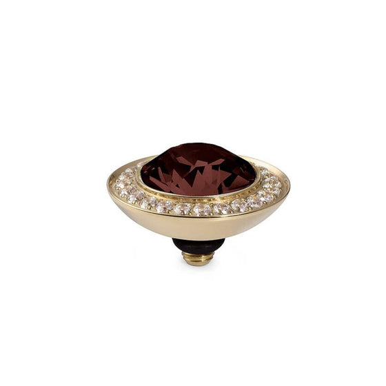 Qudo Tondo Deluxe 13mm Gold Topper - Burgundy