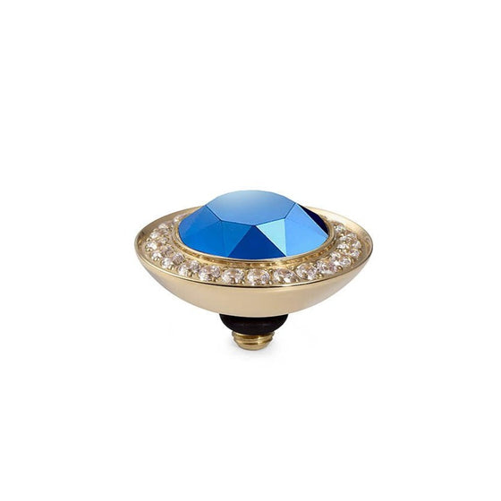 Qudo Tondo Deluxe 13mm Gold Topper - Metallic Blue