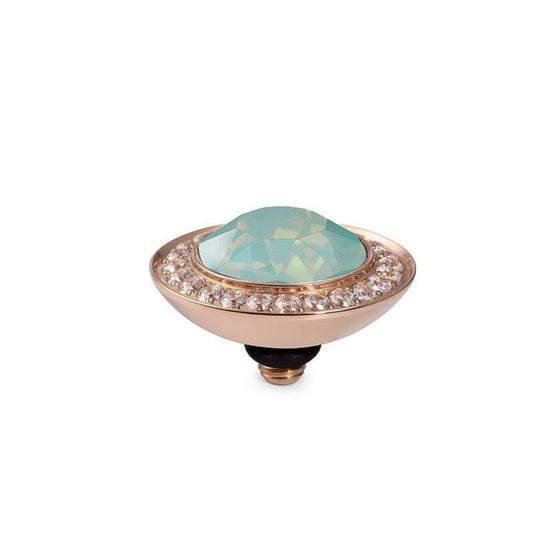 Qudo Tondo Deluxe 13mm Rose Gold Topper - Pacific Opal