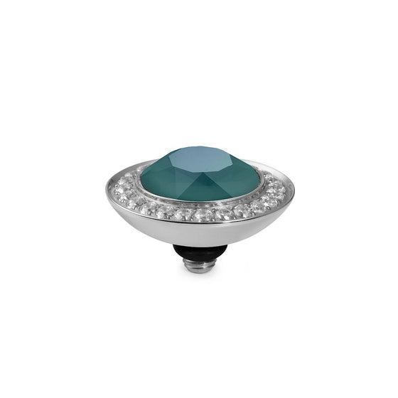 Qudo Tondo Deluxe 13mm Silver Topper - Royal Green