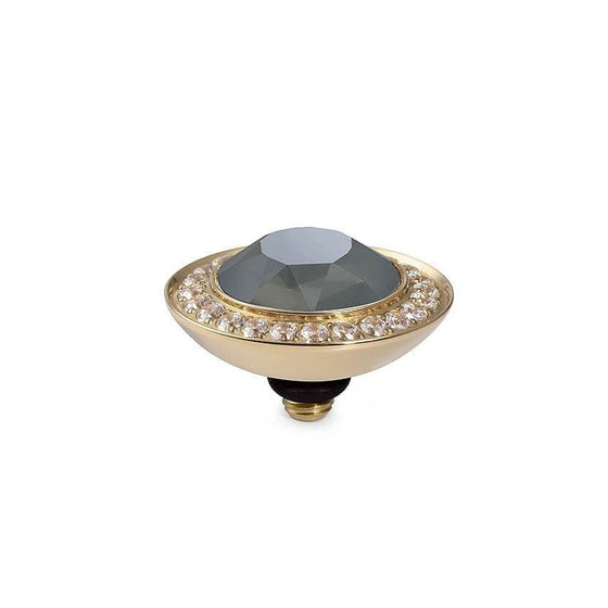 Qudo Tondo Deluxe 13mm Gold Topper - Dark Grey