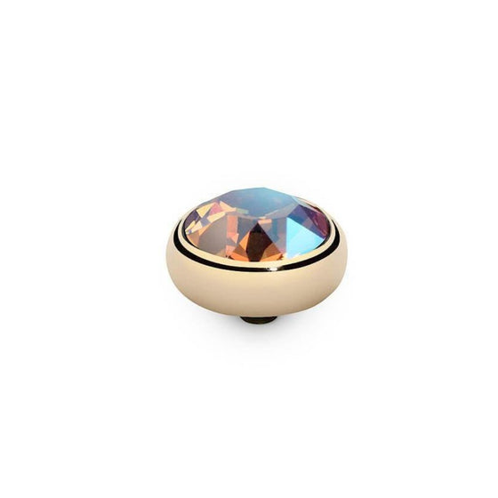 Qudo Sesto 10mm Gold Topper - Light Colorado Topaz Shimmer