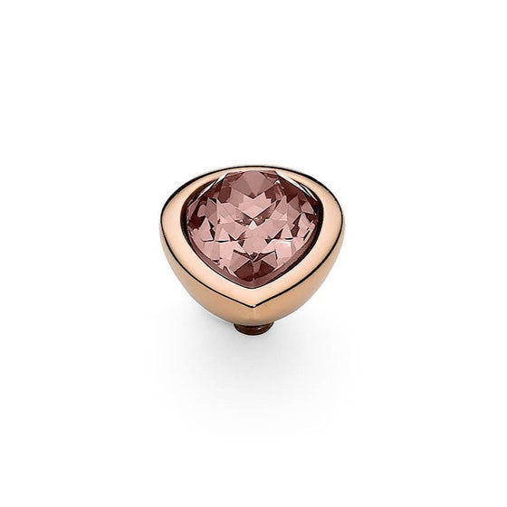 Qudo Goccia (pear) 9x12mm Rose Gold Topper - Vintage Rose