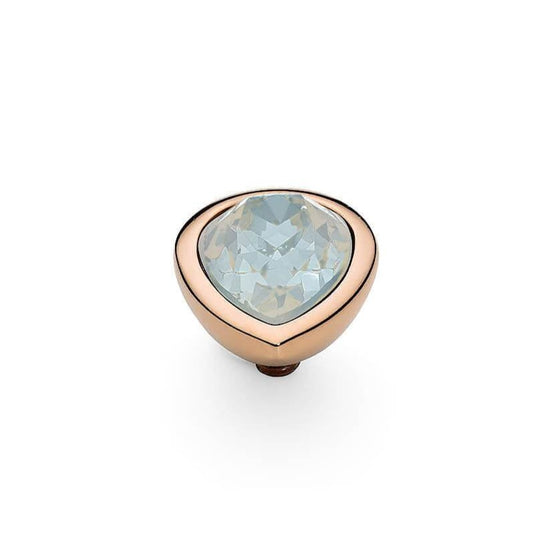 Qudo Goccia (pear) 9x12mm Rose Gold Topper - White Opal