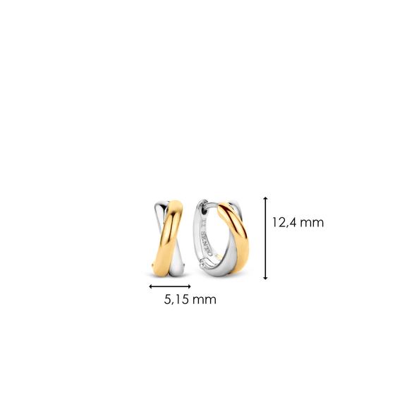 Ti Sento Gold & Silver Small Cuff Earrings