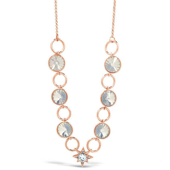 Absolute Rose Gold & White Opal Star Necklace