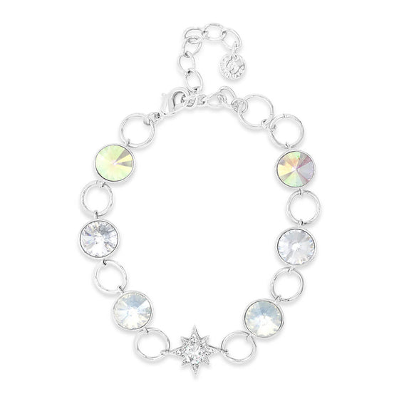 Absolute Silver & White Opal Star Bracelet