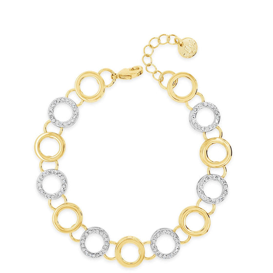 Absolute Gold & Silver Circle Bracelet