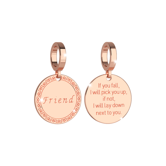 Rebecca My World Rose Gold Friend Charm