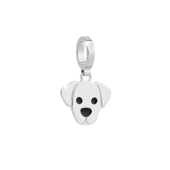 Rebecca My World Silver Dog charm
